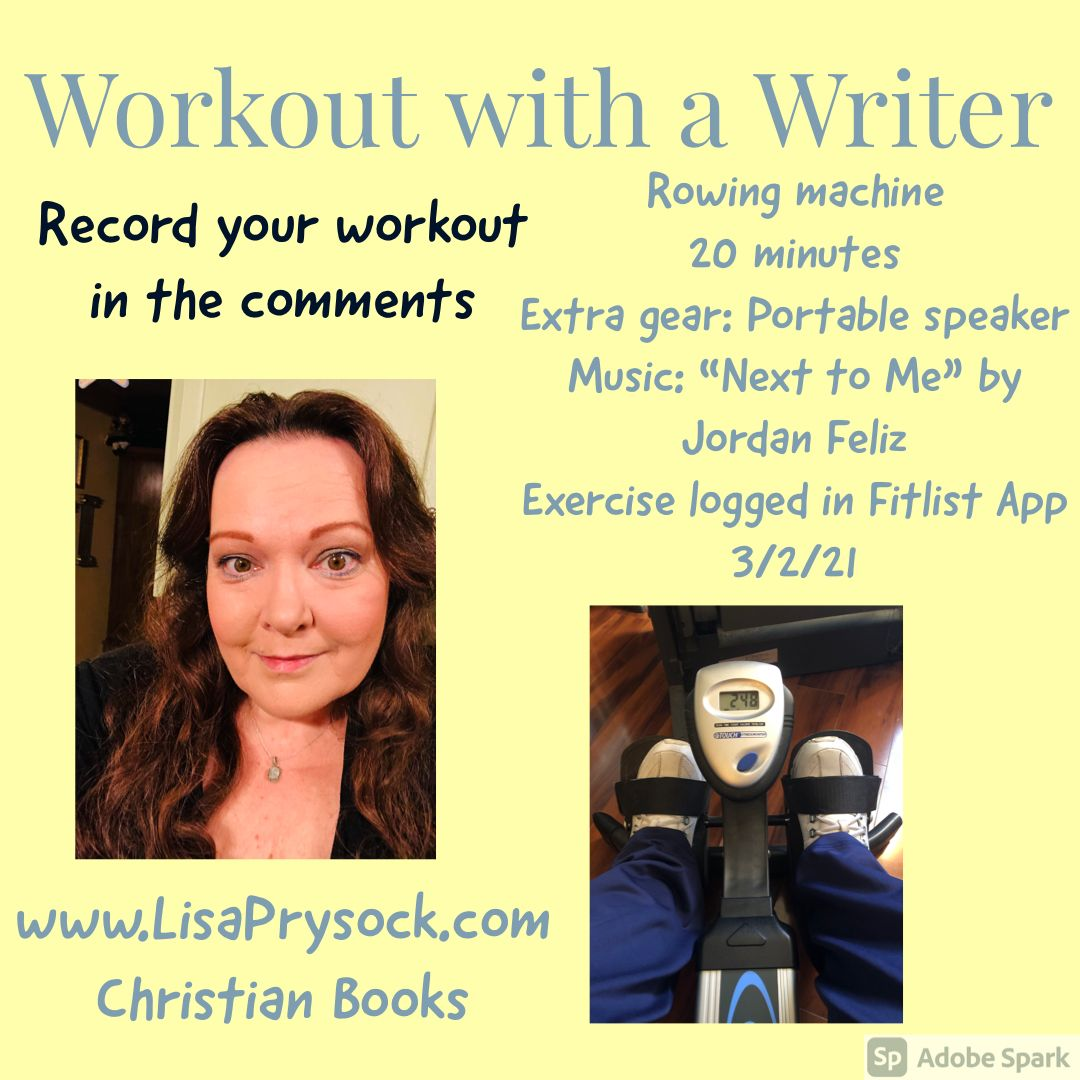 What's your workout for today? #amwriting #Christianfiction #BeStrong #BeHealthy #workout #LisaMPrysock #GetFit  @JordanFeliz