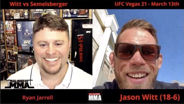 I caught up with #ufc welterweight @jasonwittmma in my latest for @AllAccessMMA247 ahead of his matchup against Matthew Semelsberger at #ufcvegas21. The @GloryMMAFit standout expects to submit his opponent on March 13th. @TeamIridiumISA