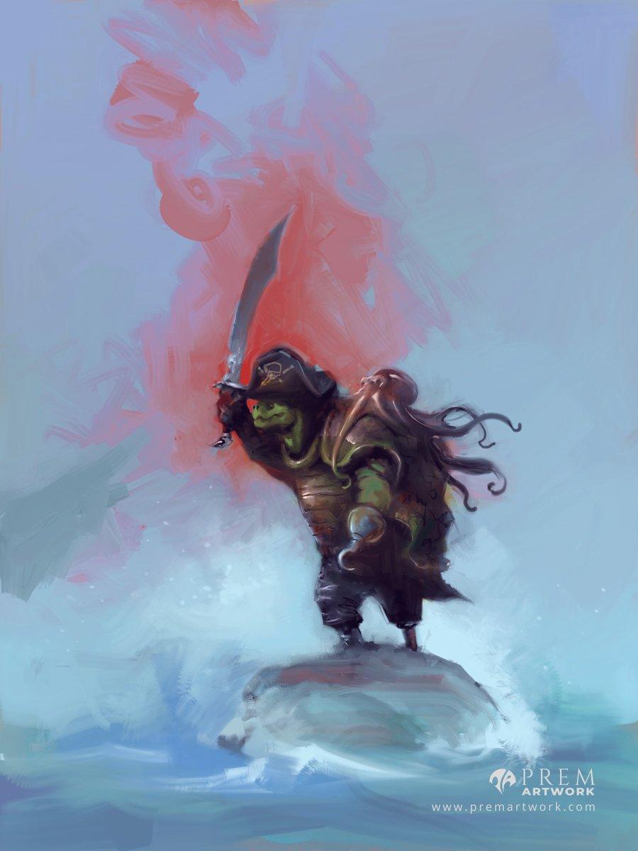 Garra, the Tortle Warlock. Pro Bono for u/Earth_Snake_UwU on reddit #dndartists