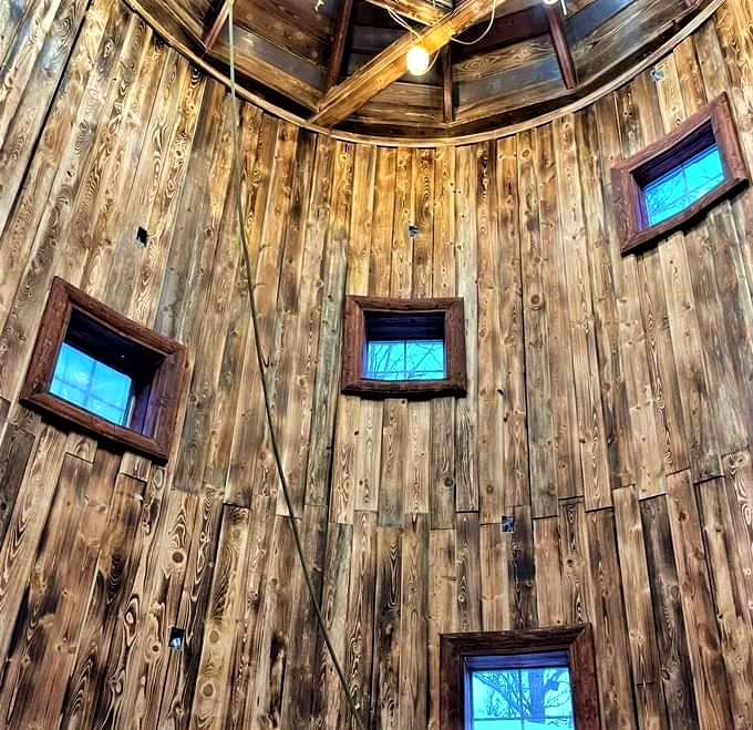 #TuesdayFeeling #rustic #Wow  We always feel so grateful when customers share #amazing photos. This customer #transformed this silo into this grand living space.  He used 2x8 timber siding which he charred and sealed.