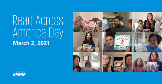 Excited to celebrate #ReadAcrossAmericaDay with virtual book readings shared by my @KPMG_US colleagues! Together with @FirstBook, KPMG's #KFFL provides #StoriesforAll to children in need of books. #KPMGProud #ConnectForAGreatStart