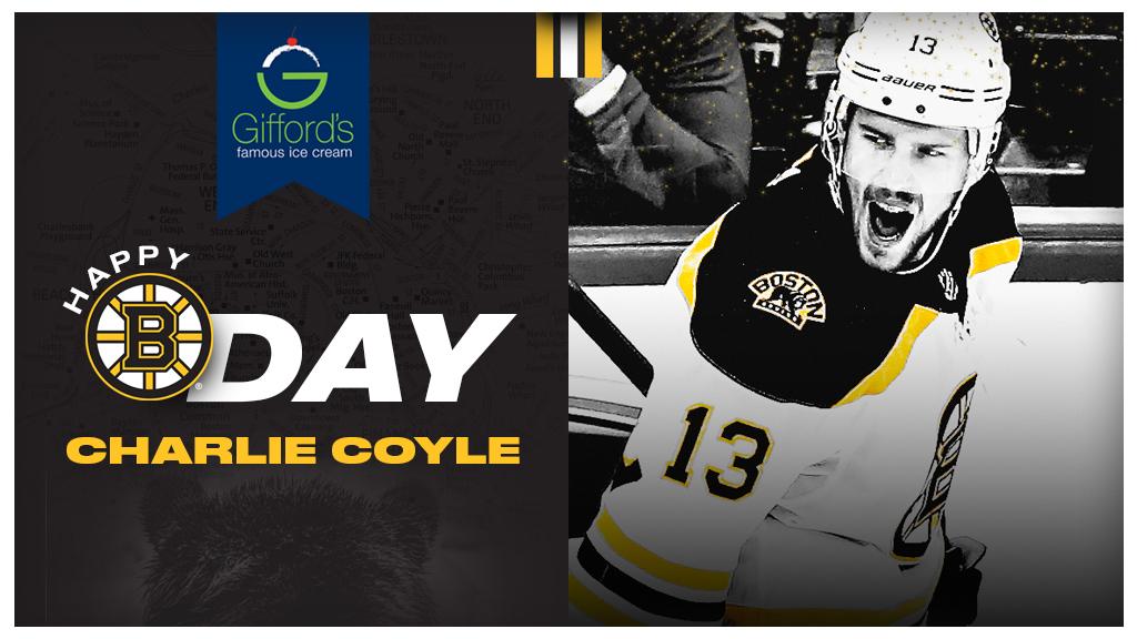 Happy Birthday, @CharlieCoyle_3! 🎂   #NHLBruins