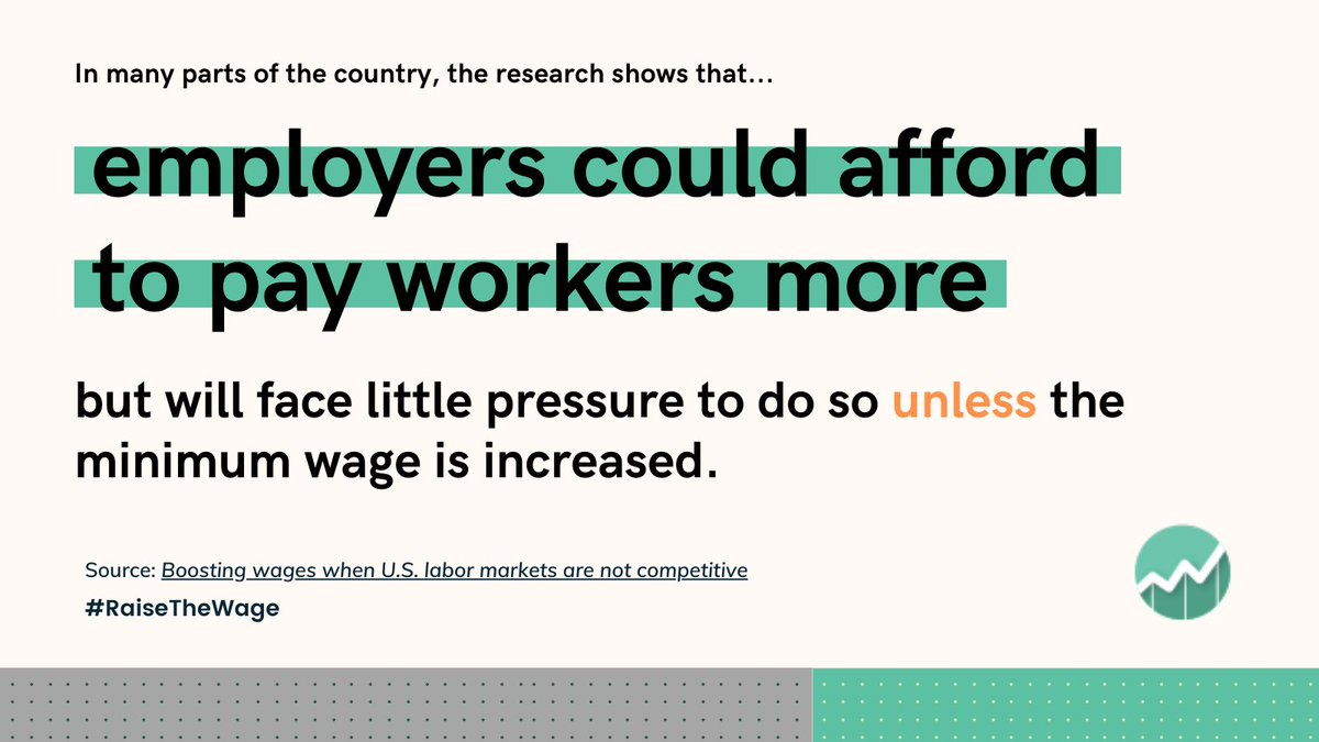 #Monopsony is a real problem leading to less worker power, less labor market competition, and wage suppression. #RaiseTheWage