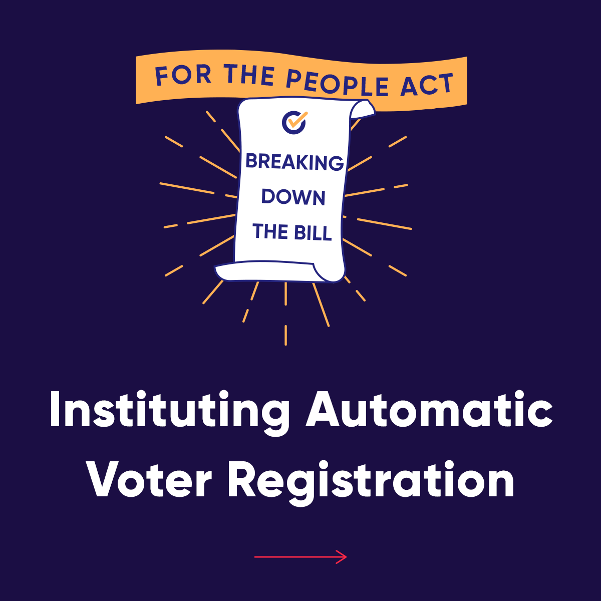 We're breaking down what automatic voter registration is and how this change would register 50 million new lifelong voters.   Do you want to see this change made in your state? Call your Members of Congress and urge them to support the #ForThePeopleAct: