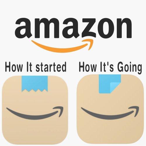 Amazons new logo make over.