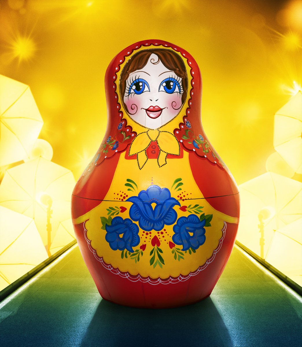 @MaskedSingerFOX Here's the official #MaskedSinger photo of the Russian Doll. In order to sing, the bottom jaw slides down, kind of like a marionette. And yes, it's a bit creepy. Premieres March 10 at 8/7c #TCA21