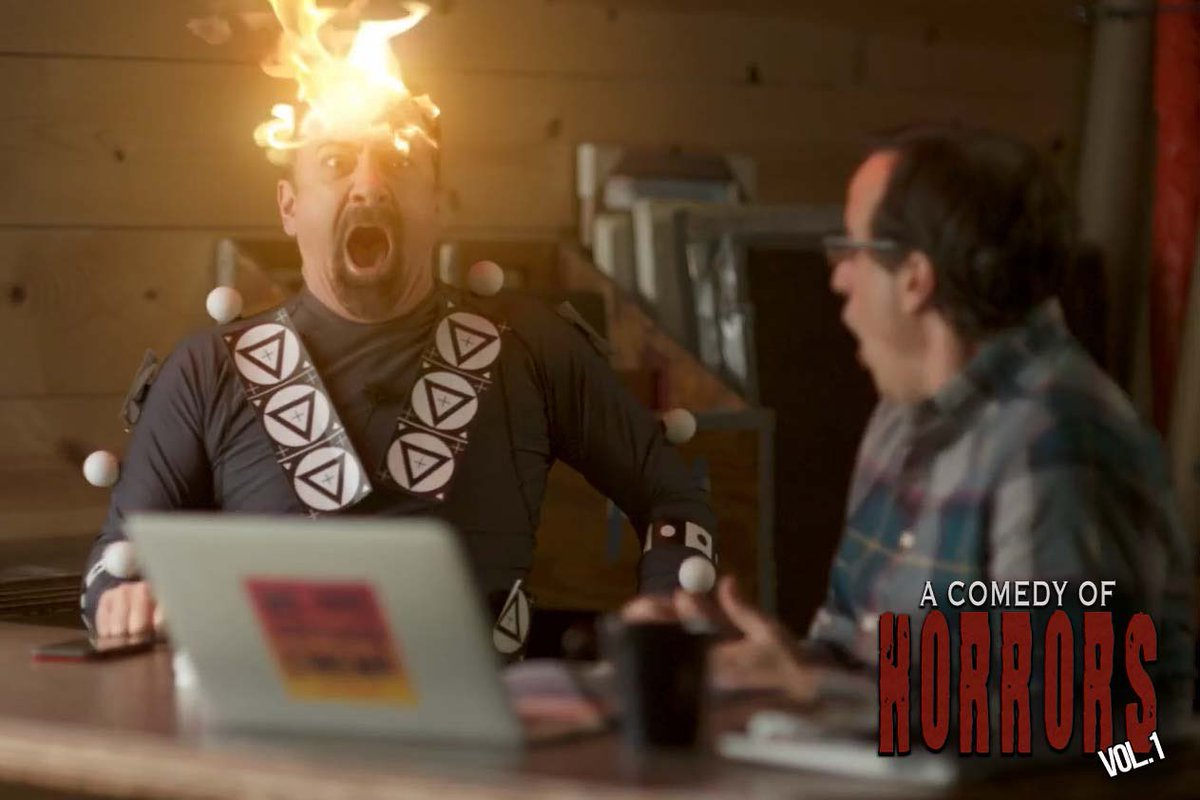 @MattServitto is on fire 🔥🔥🔥😱😱😱 #acomedyofhorrors   #anthology #acoh #indiefilm #supportindiefilm #sfx #sfxmakeup #horrorcomedy #mdfilm #horror #comedy #indiefilmmakers #madeinmaryland