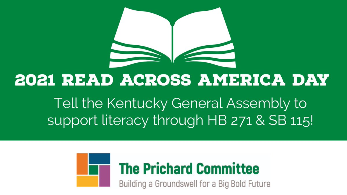 On #ReadAcrossAmericaDay, we urge you to support literacy in Kentucky by telling your legislators to support HB 271 and SB 115! Both bills will help improve reading skills for our K-3 students through supporting teacher preparation! Send a message NOW: