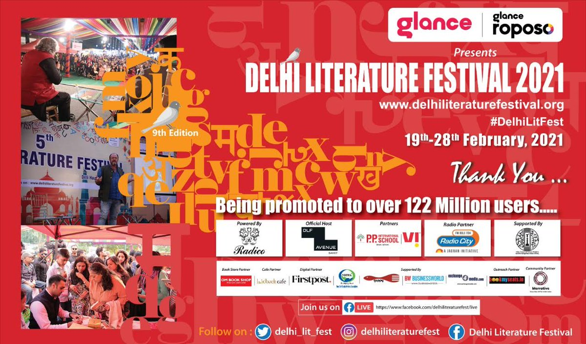 Dear, #publishers, #Authors, #partners, #moderators  & the DLF Team, thankyou all for a lovely and most memorable #DelhiLiFest 2021, which concluded, last Sunday.... India's most exciting & bestseller Authors were there! Let's stay in touch, stay safe & stay healthy....