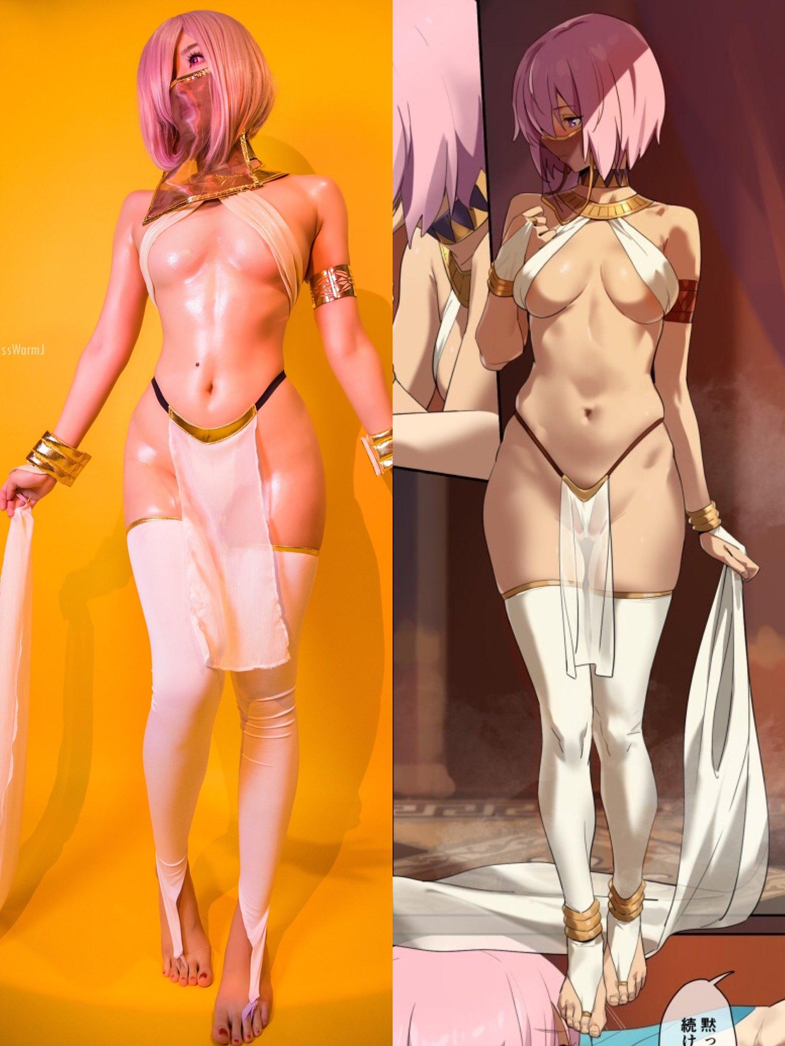 画像,I really love this design so I have to cosplay #Mashu again 👻 Come to see the fu…