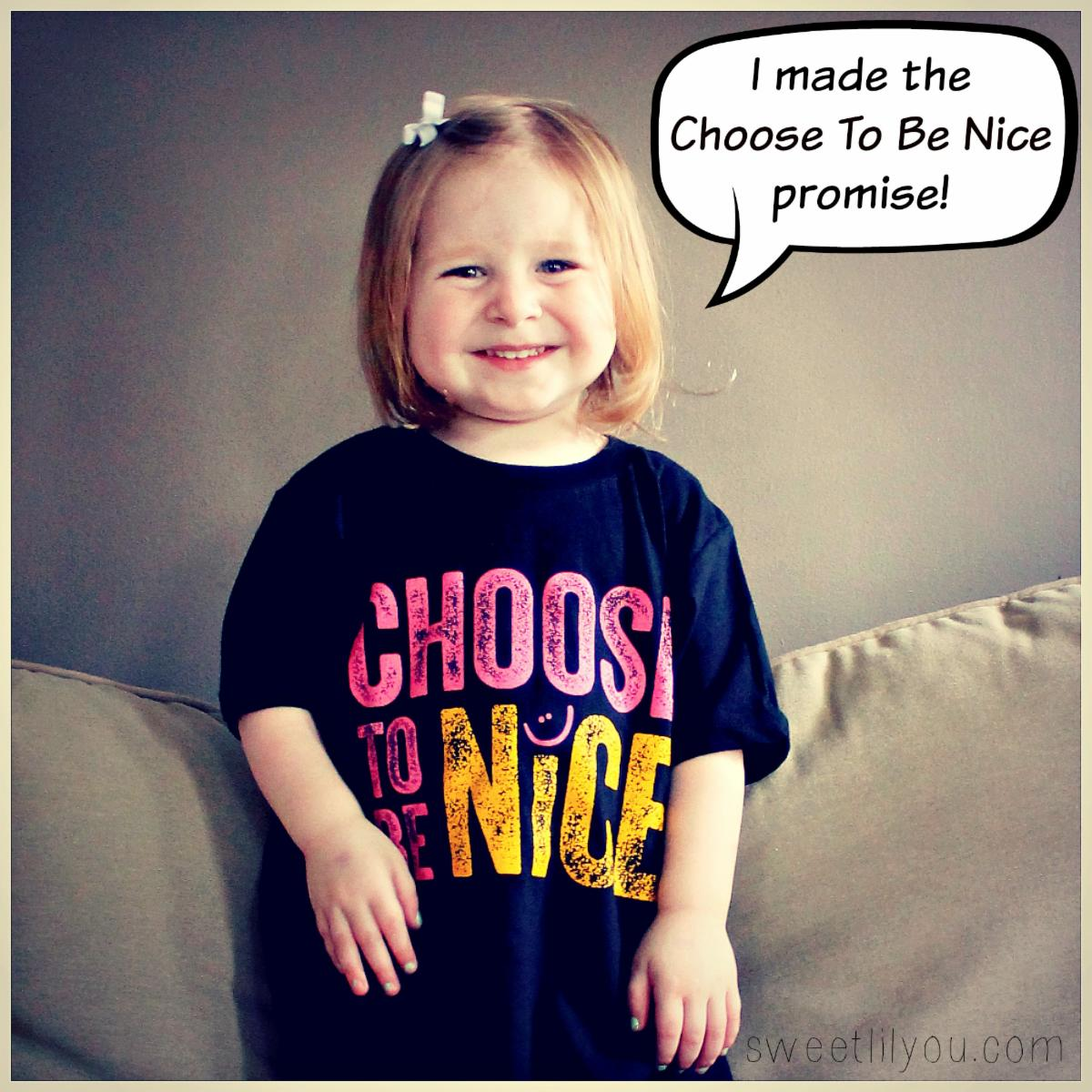 Have you made YOUR PROMISE yet? We promise to always CHOOSE TO BE NICE! Make your promise today with your family & peers:  #ctbn #kindness #swag #hoodies #tees #hats #makethepromise #friendship #familyfun #schoolfun