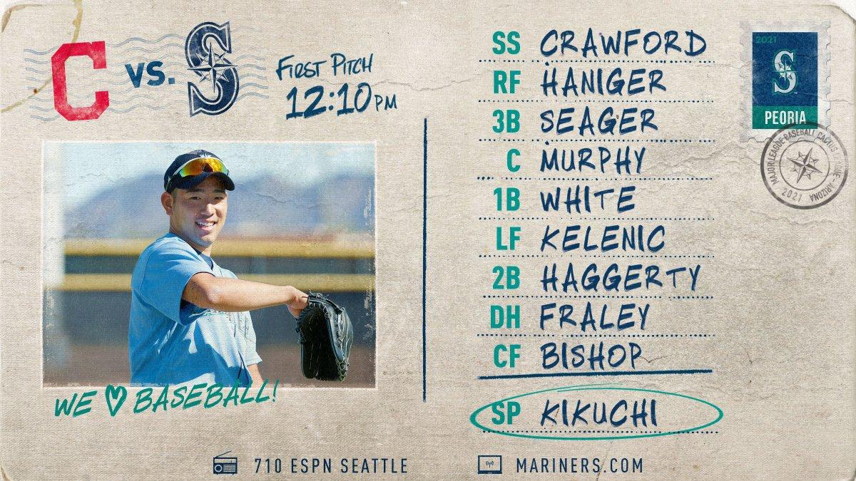 Feels good to say there's more baseball today.    📍 Peoria, AZ  💪 Yusei Kikuchi  ⌚️ 12:10 p.m. PT 📻 @710ESPNSeattle (Delay) 🔗