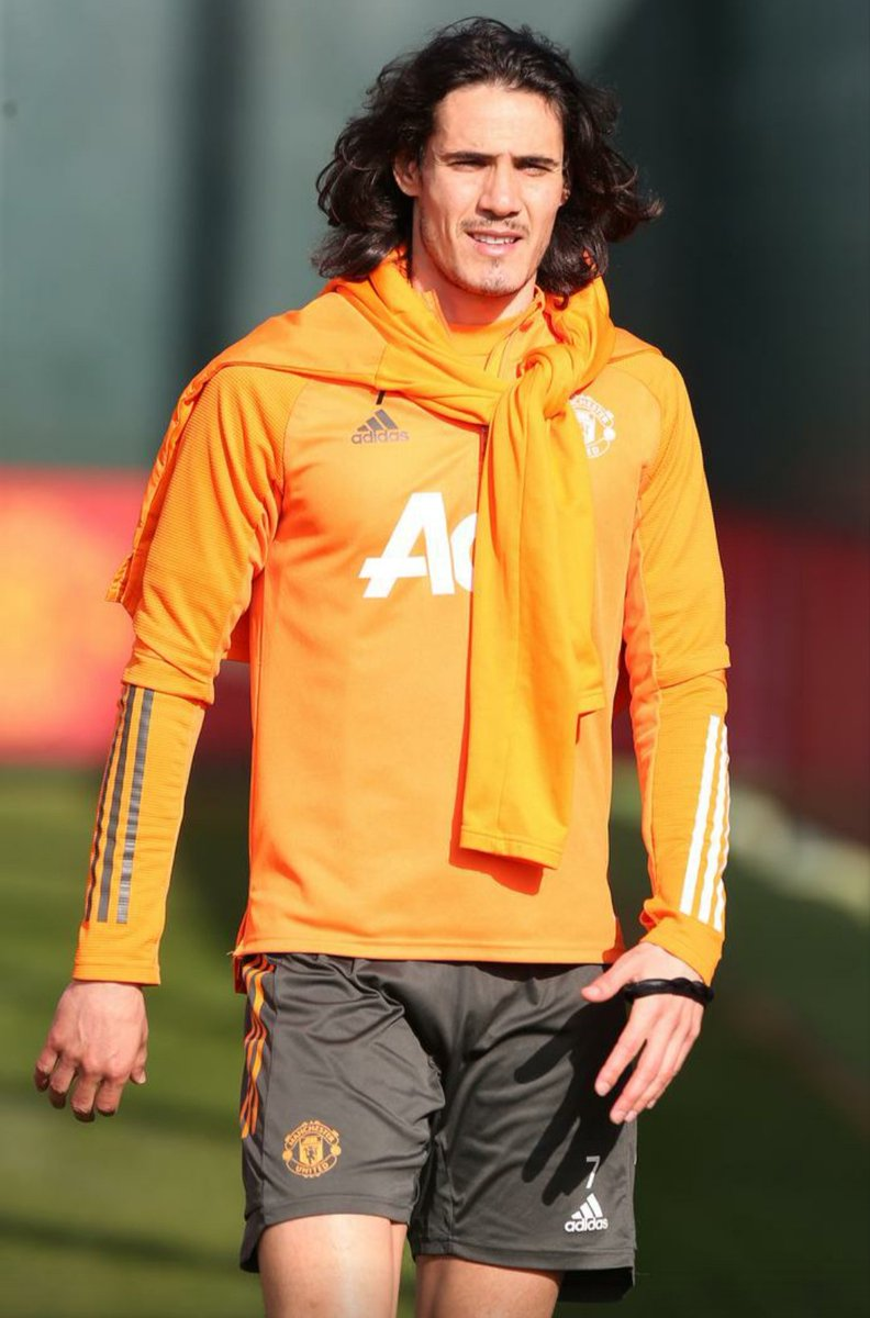 Great to see this man back in training. #MUFC #GGMU #Cavani