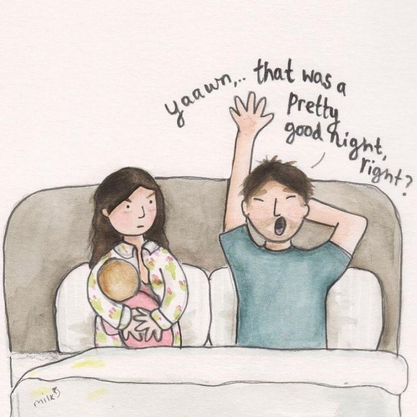 For my dear husband..  📸 helenetheillustrator ( #📷 @moomysmilk )   #momlife #motherhood #baby #family #mother #parenting #mum