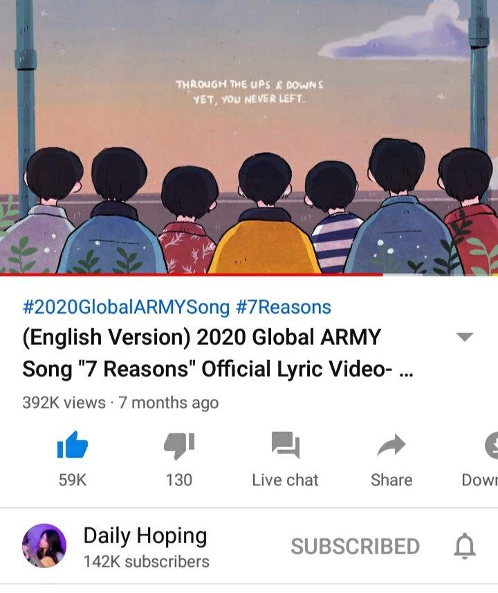 7 REASONS 💜💜💜 2020 Global ARMY Song (English version) 👇👇👇   #runbtsep131 #RUNBTS #2020GlobalARMYSong #7Reasons #BTS_BE @BTS_twt