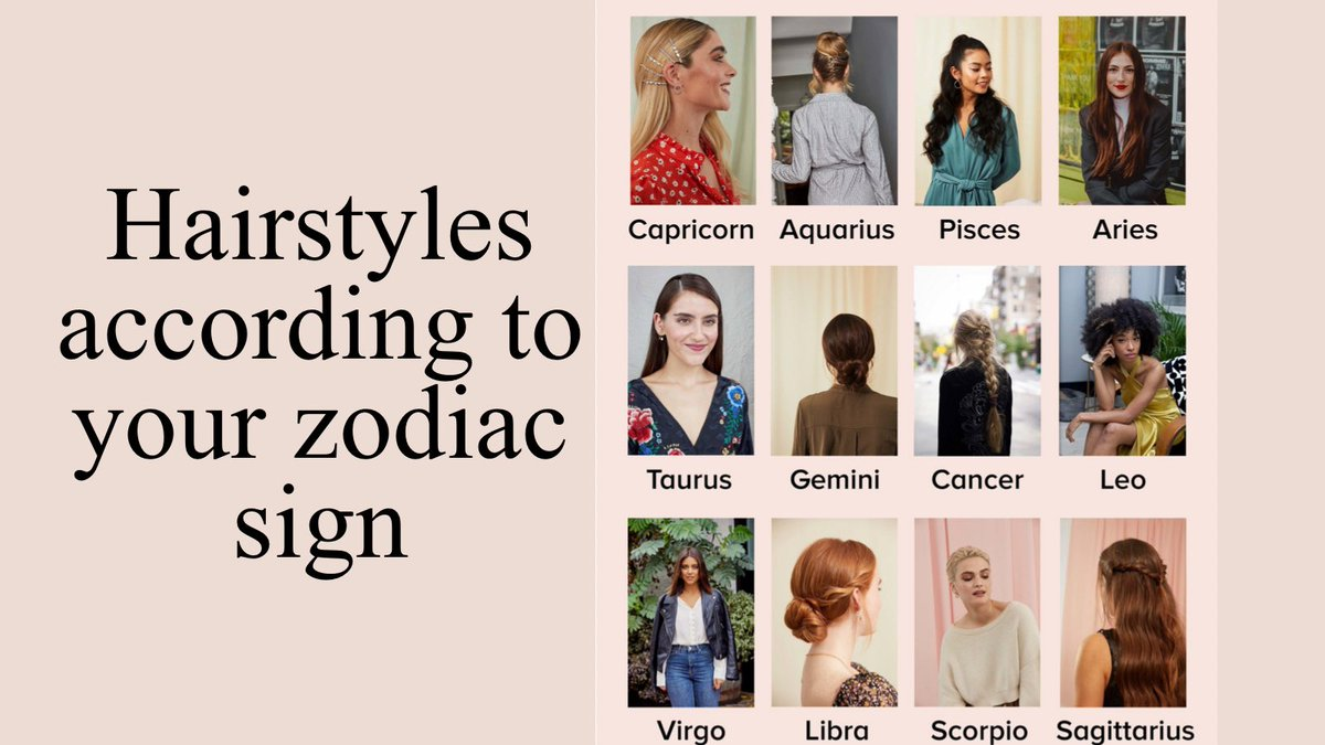 Ladies!  According to @AllThingsHairUS just like your love life and work dilemmas, there is advice from the stars (up above us) on the right hairstyle for you.   Does your style suit you?  #hairstyle #ZodiacSigns #TuesdayFeeling #tuesdaymotivations