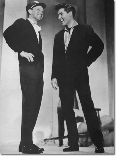 #fbf to Frank and @ElvisPresley rehearsing for The Frank Sinatra Timex Special that aired on ABC in March 1960
