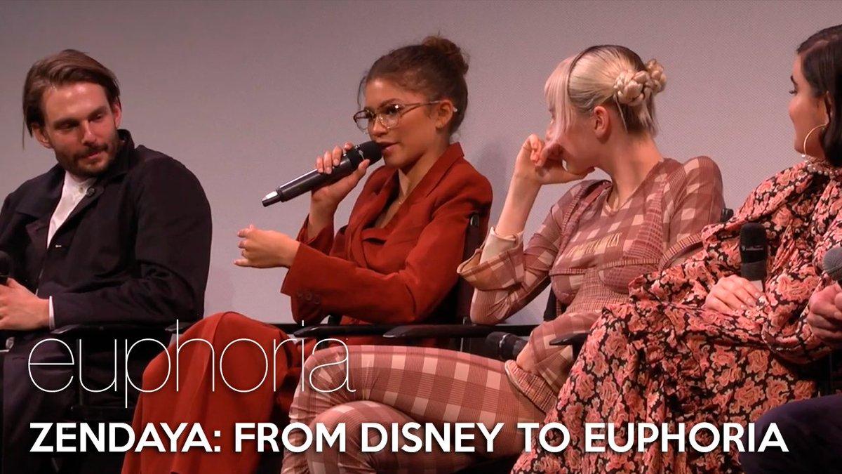 """ATX Festival: Euphoria   """"Zendaya, what was it like going from Disney to this?"""" #Euphoria #EuphoriaHBO  WATCH HERE:"""