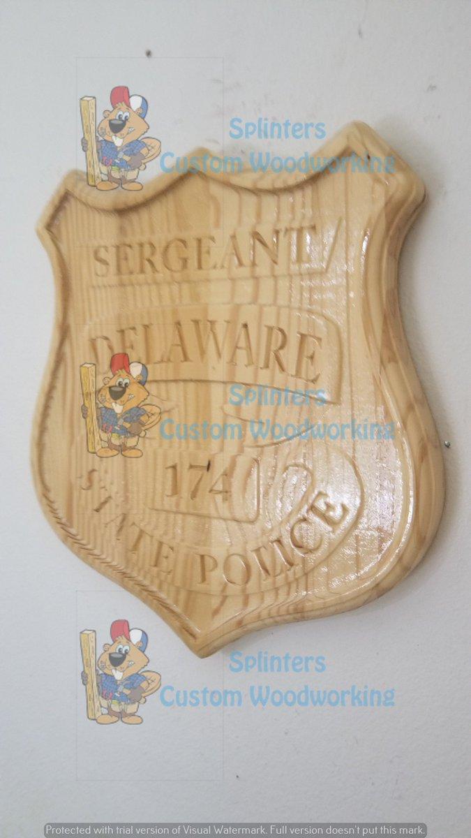 3D V CARVED - Personalized Delaware State Trooper Police Badge V Carved Wood Sign  #Homedecor #Handmade #Police
