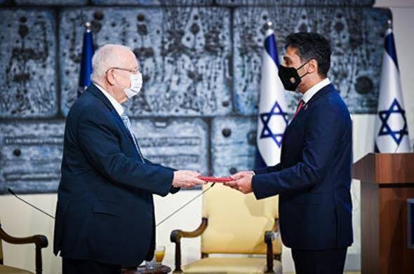 First-ever UAE ambassador to Israel presents credentials Photo