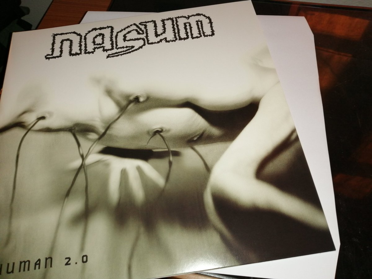 Turning it up a notch with this next spin, 'Human 2.0' by Nasum  So happy to finally have this on vinyl. Swedish grindcore gods rip shit up on this second release ✊  #music #grindcore #metal #vinyl #tuesdayvibe