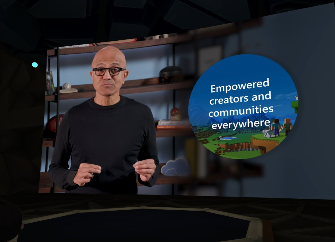 And also #MSIgnite in #AltspaceVR!