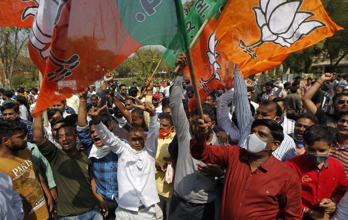 District Panchayat elections in Gujarat: BJP wins 81.71% seats, 54.19% vote share
