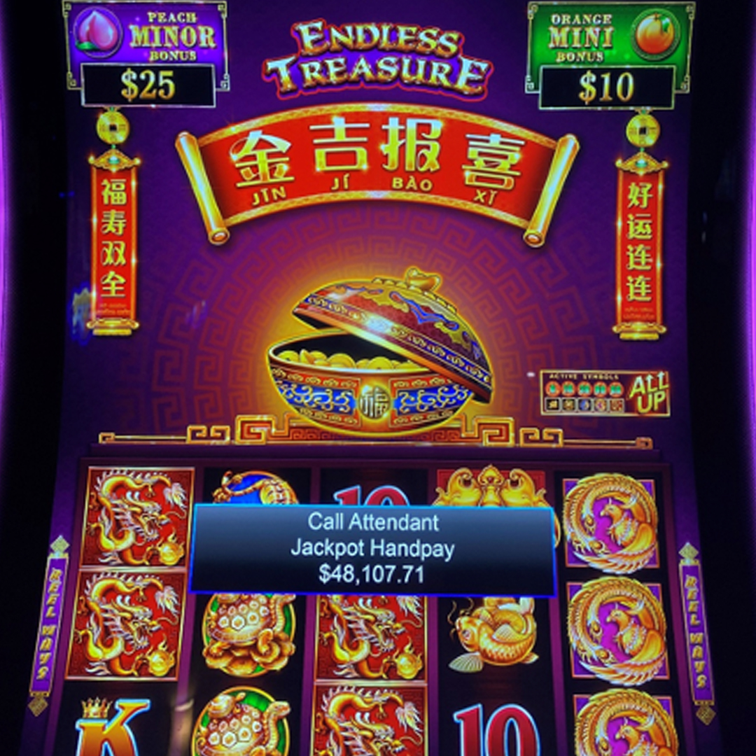 We have another #BigWin! Congratulations to a lucky guest who won $48,107.71 while playing Jin Ji Bao Xi - Endless Treasure! 🎉  #DestinationFun