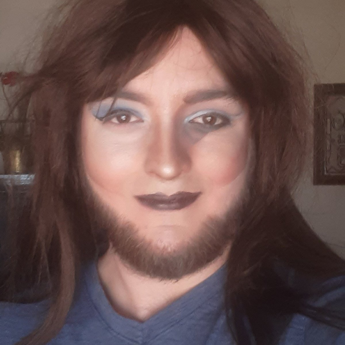 Today's already a good day. Here's a colab my sister and I did.  #drag #makeup #goodmorning #GoodDay