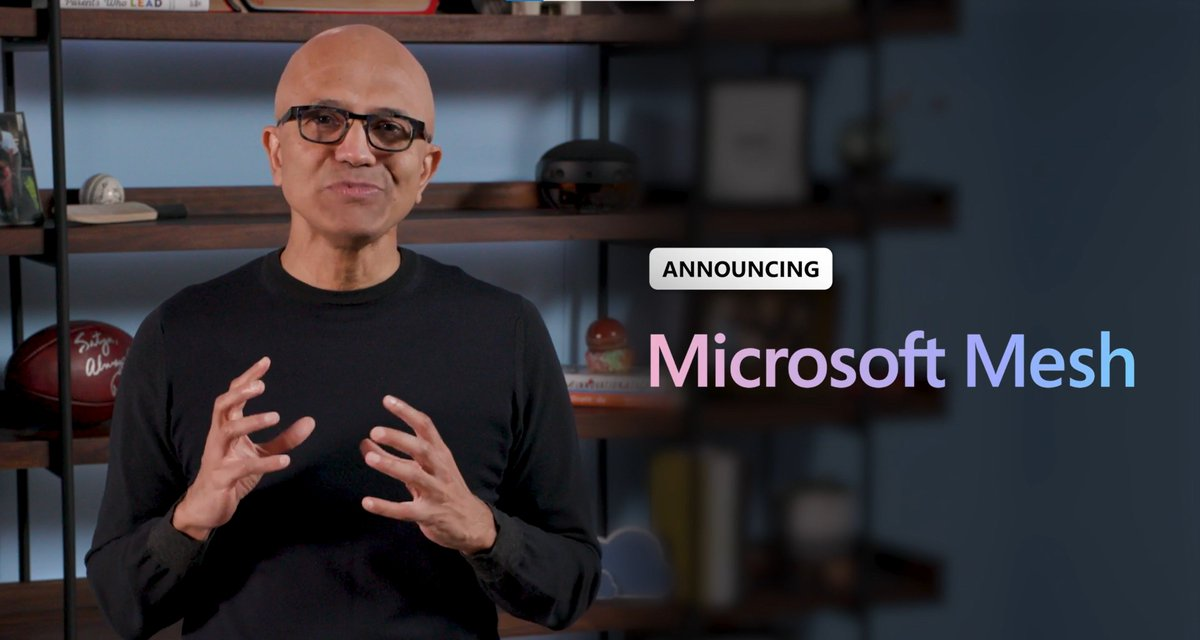 SO excited to see a new #MixedReality platform from @Microsoft this morning during #MSIgnite: #MicrosoftMesh.  Microsoft Mesh allows you to interact #holographically with others with true presence in a natural way.  @Envision_Todd #envisiontech #MSIgnite2021