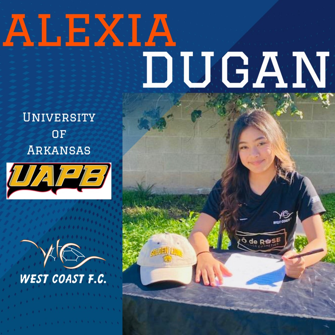 CONGRATULATIONS to Alexia Dugan (03 DPL Coach Ray Tayla) who has committed to play D1 for University of Arkansas!   #D1 @UAPBLionsRoar #womenssoccer #letsgo #wcfcsoccer #golions #arkansas #dpl @neumabeauty @oderosemedspa1