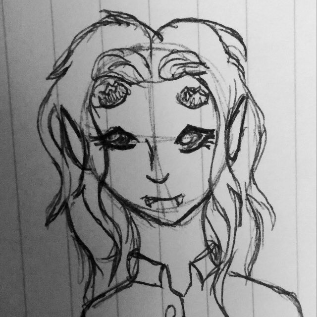 A #wip of one of my player's characters. A tiefling sorcerer #dnd #dnd5e #DnDcharacter #dndartists