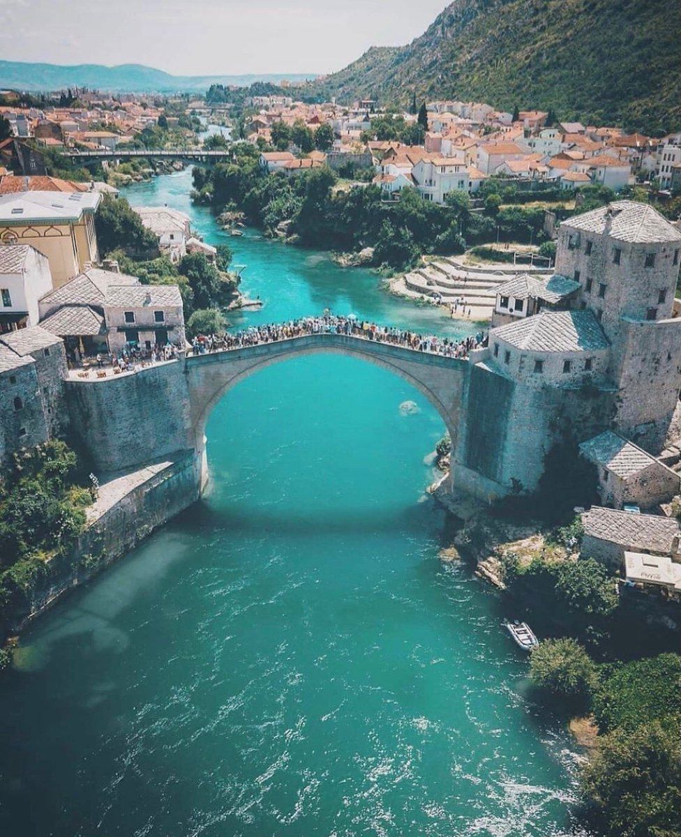 The Old Town of Mostar in Bosnia and Herzegovina, one of Europe's Underrated Treasures! _ 📌 #Mostar #BosniaAndHerzegovina #Europe 📸 IG, @adventure_cal #travel #traveling #vacation #adventure #explore