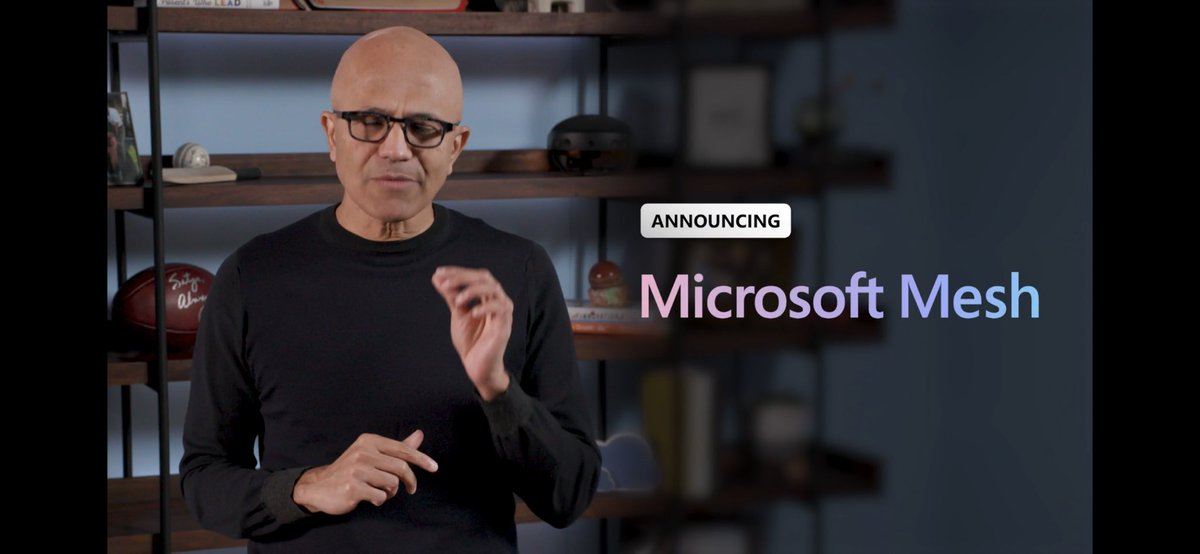 Announcing Microsoft Mesh at #MSIgnite - connecting everything with everything by @satyanadella  and @akipman