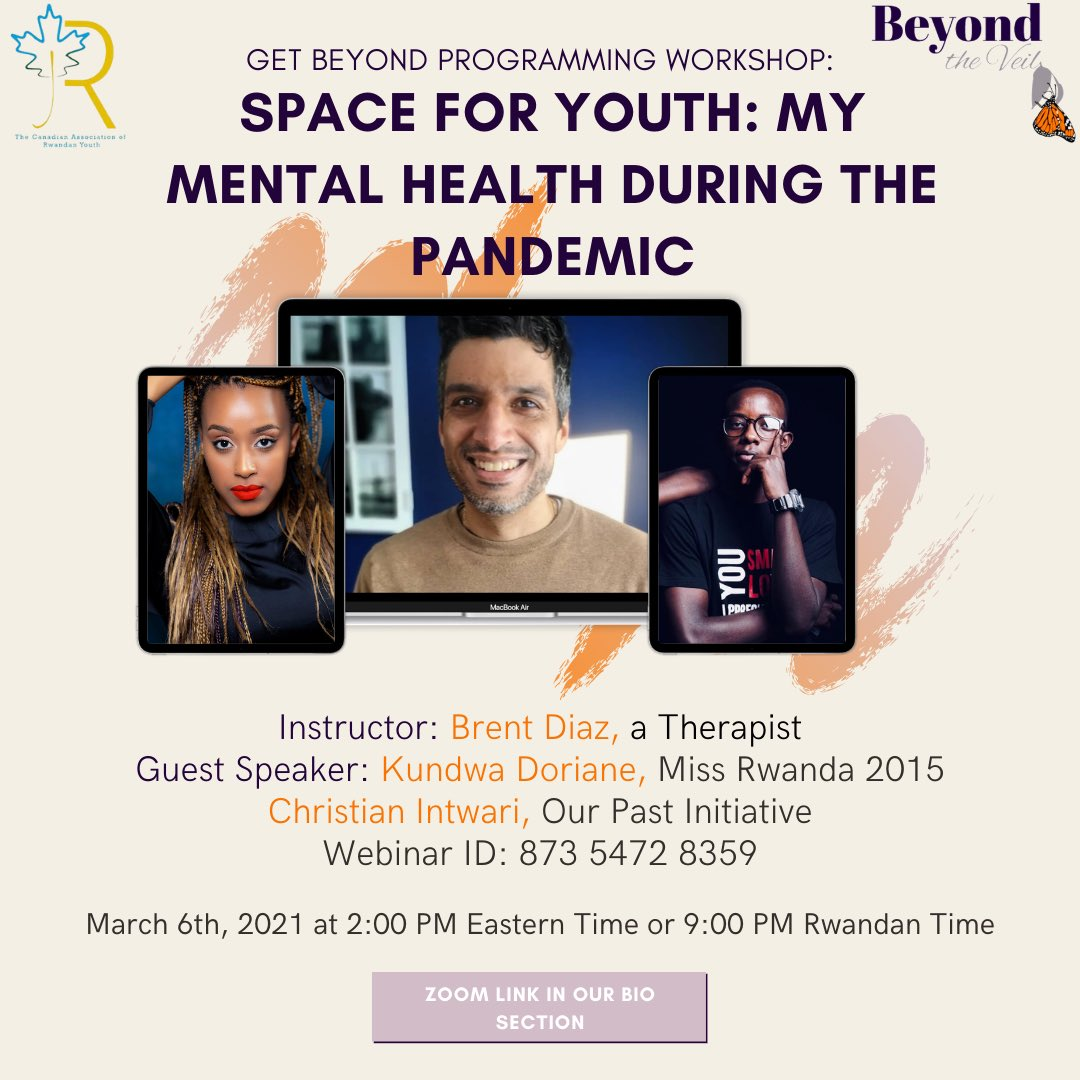 To our young people, this is your space to learn, express, interact with your fellow youth for better solutions about how we are going to use strengths within ourselves to cope with this pandemic. This is a workshop/convo about our mental health. #RwOT