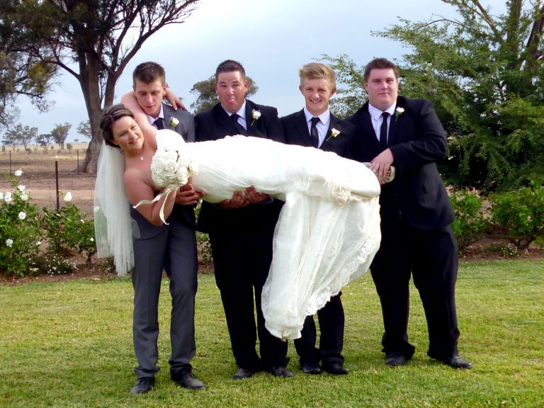 #Hilarious snaps capture moment shocked #bride is dropped by clumsy #groomsmen during #wedding #photoshoot  | #WeddingPhotoshoot #NewSouthWales #Australia #SpecialDay #ClumsyGroomsmen