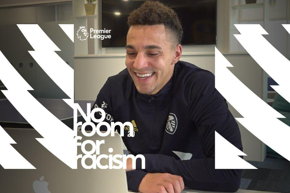 """""""It's important for children to understand the differences between their culture and the culture of others""""  @LUFC forward Rodrigo went back to school to spread the #NoRoomForRacism message ➡️"""