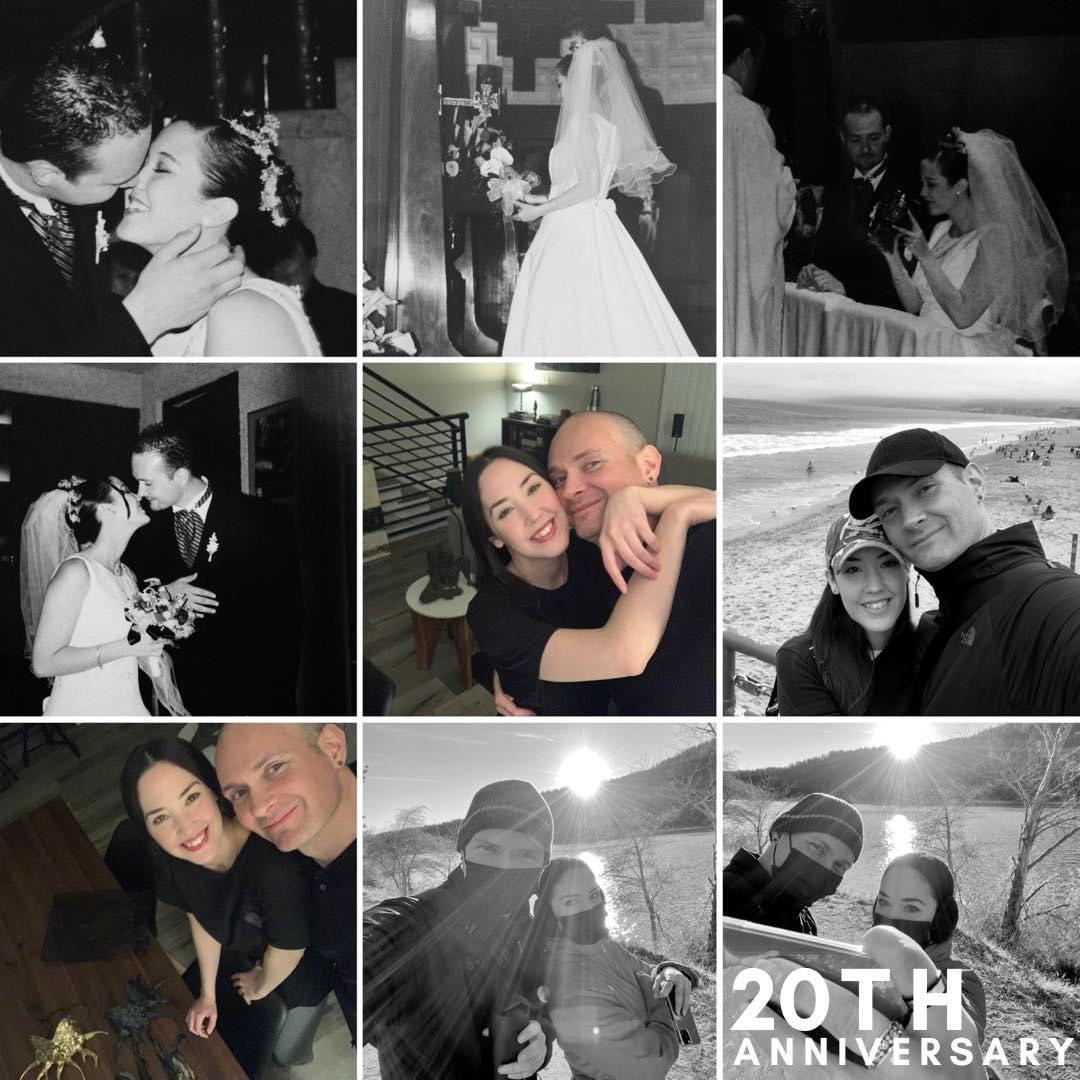 We are celebrating 20 years is marriage!🧛🏼♂️🖤🧛🏻♀️💍 #amoreterno #omeworld #wedding #20years