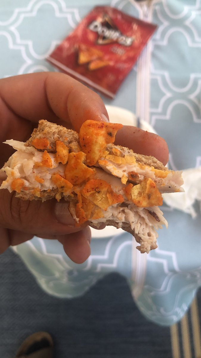 If you've never done this when eating a sandwich with chips you haven't lived #doritos