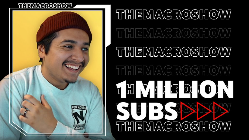 Channel Milestones ... For Noobs.  All jokes aside, congratulations to @TheMacroShow for hitting 1M subscribers 😱 ❤️ ➡️