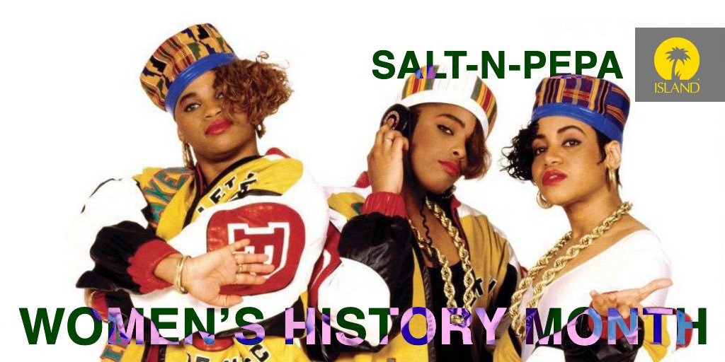 """Honorably known as """"The First Ladies of Rap and Hip Hop"""", @TheSaltNPepa are HITMAKING QUEENS. 👑#WomensHistoryMonth #SaltNPepa #LetsTalkAboutSex #PushIt #Shoop #WhattaMan"""