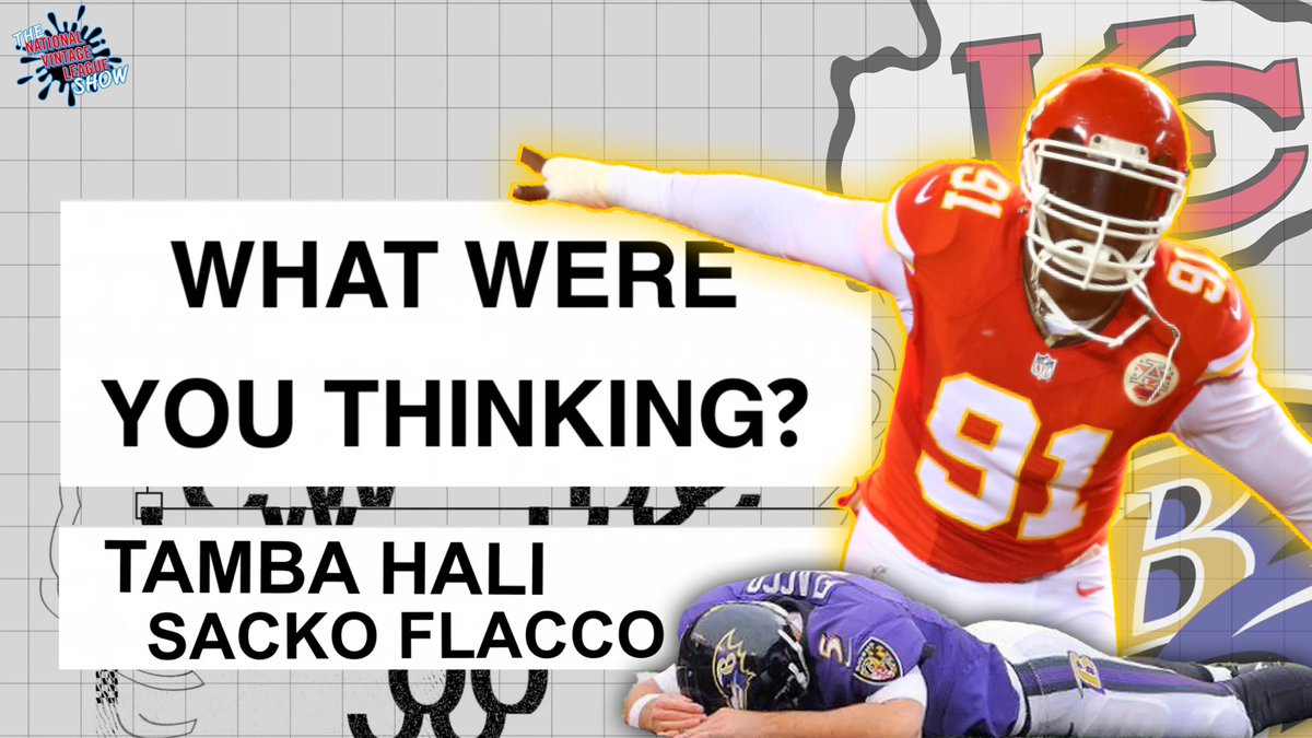 🔴WHAT WERE YOU THINKING? 🟡with Tamba Hali   This week we take a look back at the 2010 AFC Wild Card / Chiefs vs Ravens.  Otherwise known as SACKO FLACCO. Sure, the Ravens got the win...but Hali and the Chiefs put Joe in a bodybag.  Full episode here:
