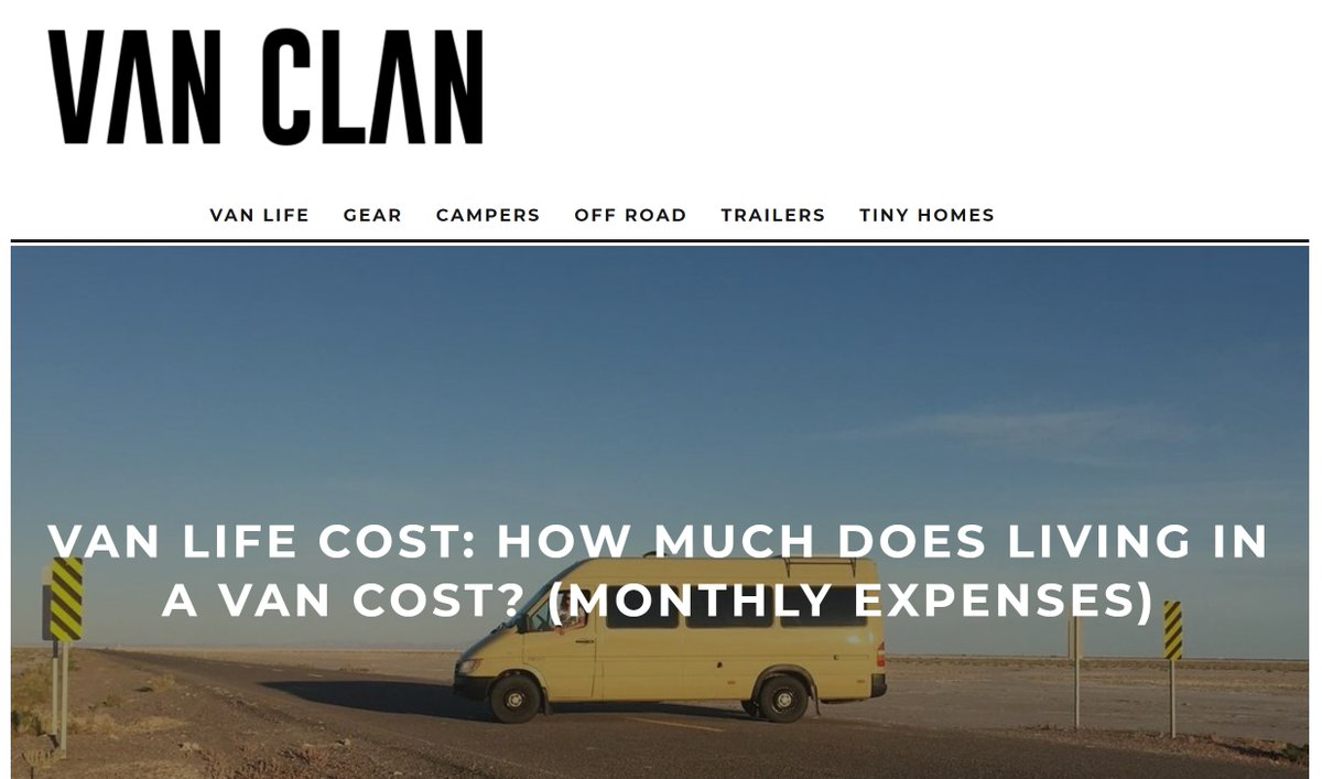 Replying to @Camperbroshop: VAN LIFE COST: HOW MUCH DOES LIVING IN A VAN COST? (MONTHLY EXPENSES:  #Van #VanLife #VanClan #RV #Camper #Motorhome #LifeOnTheRoad #Travel #Travelling #Travellers #OnTheRoad #RoadTrip #AroundTheWorld @vanclans