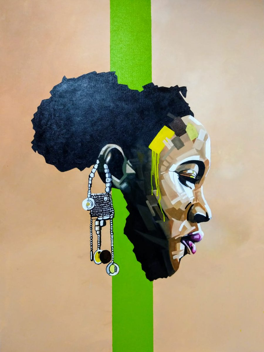 She is mama, she is beautiful, she is my definition, she is my DNA and She is Mama Africa  Acrylics on Canvas 80cm by 120 #Piece2 #blackrenaissance #drawingwhileblack