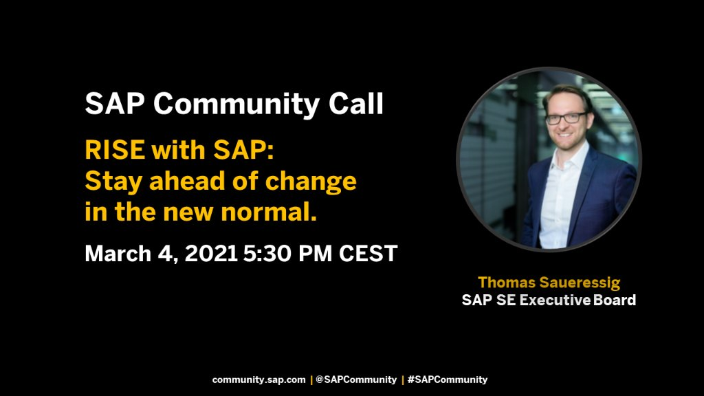 #RISEwithSAP includes access to services & tools such as business process redesign, technical migration services, cloud infrastructure, #SAPBTP & SAP S/4HANA Cloud.  Join @ccmehil and @thsaueressig and ask your questions about this new offering.  👉 https://t.co/LJYTw8T80E https://t.co/COjt7LRCmr