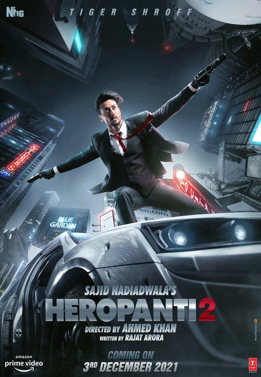 #TigerShroff's birthday Today #Heropanti2 Team announces the Releases date #3Dec2021 Stars @iTIGERSHROFF Directed by @khan_ahmedasas Produced by @NGEMovies #SajidNadiadwala @PrimeVideoIN   #Reetfilms
