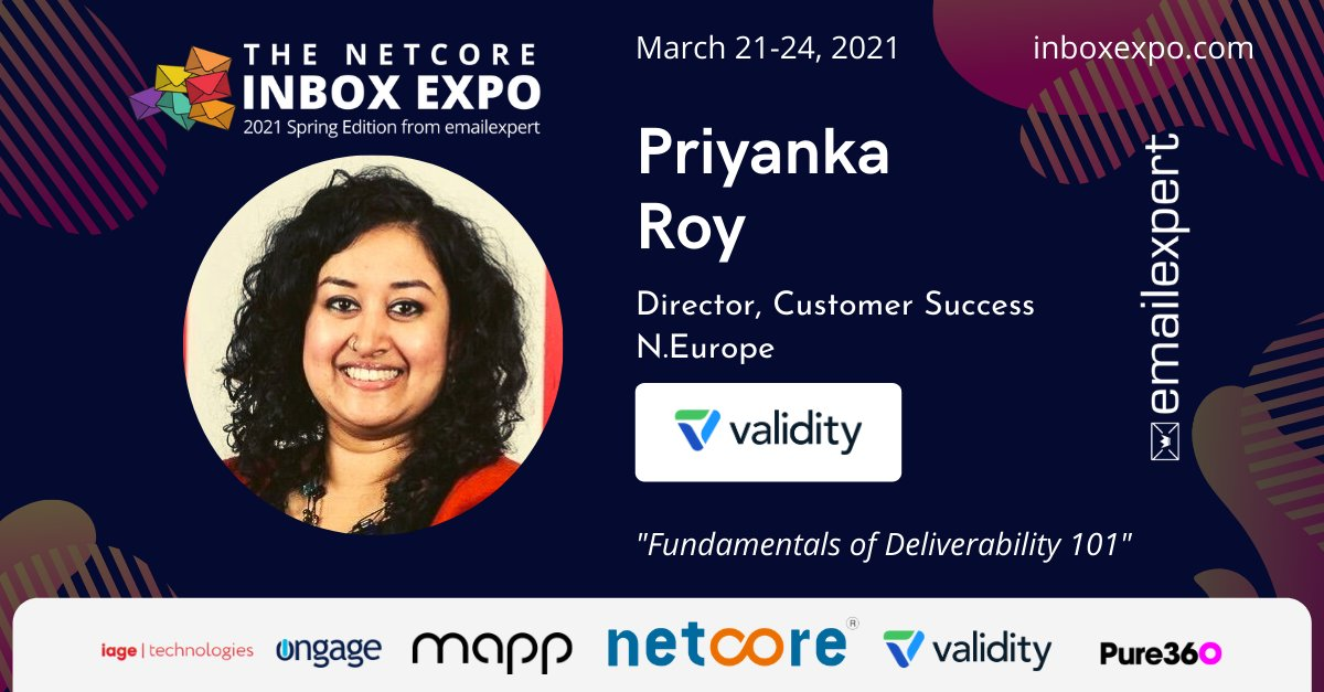 Great to have @Priyankar123 - Priyanka Roy of @TrustValidity join us again for #InboxExpo https://t.co/K0bMFnmVGZ