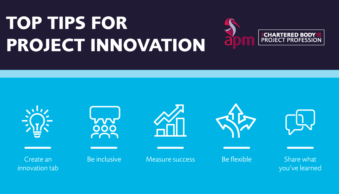 Innovation is at the heart of every project. For #projectmanagers, #innovation can mean different things in different contexts. Here are Alexander Garrett's top tips for project innovation. APM members can read the full article via: https://t.co/6QlfXSsTA3 https://t.co/qob7NbdftM