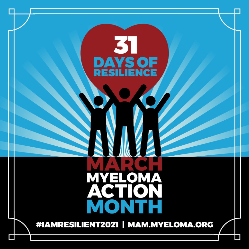We're proud to support the #multiplemyeloma community during #MyelomaACTIONMonth. Join us and the @IMFmyeloma by encouraging resilience and raising awareness through the 31 Days of Resilience activity. Learn how you can get involved: https://t.co/Syc2fWmMmF https://t.co/bO1kKLT7es