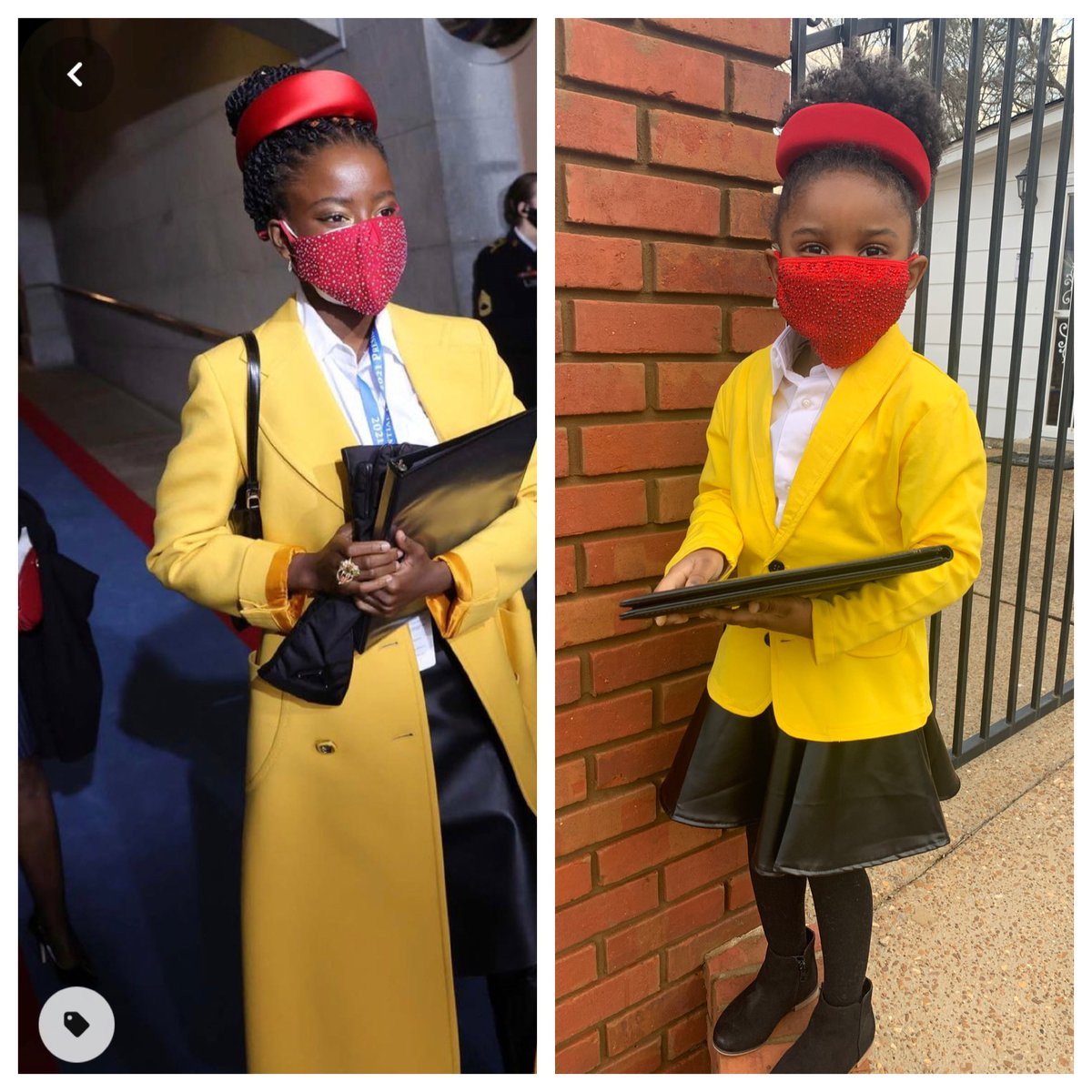 I would say my best friend & her beautiful daughter Jade nailed it! Jade as the phenomenal @TheAmandaGorman! ❤️💛#BlackHistoryMonth2021 #WomensHistoryMonth #Fisk_RYS21